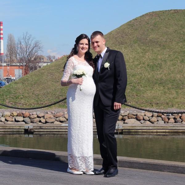 Vestuvinė nėštukės suknelė Amelia Long