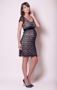 Nėštukės suknelė Flutter Black