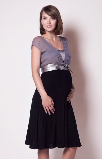 Šilkinė nėščiosios suknelė